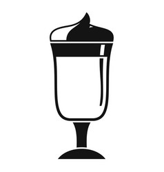 latte coffee glass icon simple style vector image