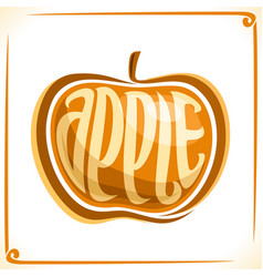 Logo for yellow apple vector