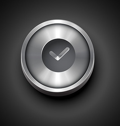 metallic clock icon vector image