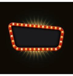 modern retro billboard background vector image