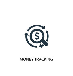 Money tracking icon simple element vector