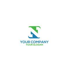 n plumbing logo design vector image