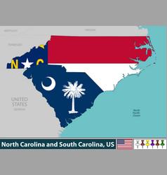 north carolina and south carolina united states vector image