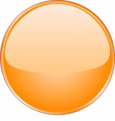 Orange button vector
