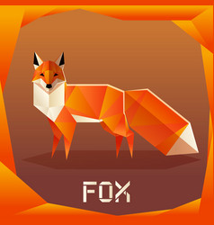 origami orange fox vector image