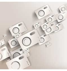paper background with photo camera web icon vector image