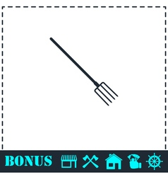 Pitchfork icon flat vector image