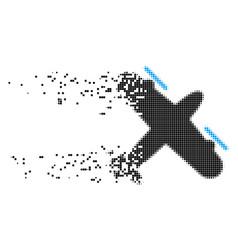 Propeller aircraft erosion pixel icon vector
