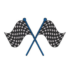 racing flags symbol vector image