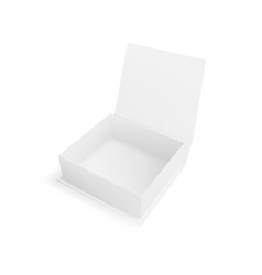 realistic open clear white gift box for branding vector image