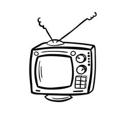 Retro device - old tv vector