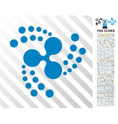 Ripple swirl rotation flat icon with bonus vector