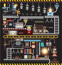 Robot engineering factory vector