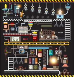 Robot engineering robot factory vector