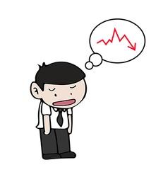 Sad businessman vector image