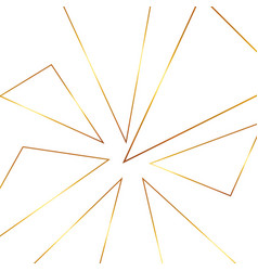 seamless geometric golden background vector image