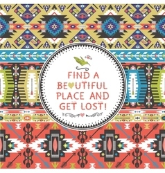 Seamless pattern in african style vector image