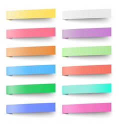 Set of pastel color sticky notes stickers vector