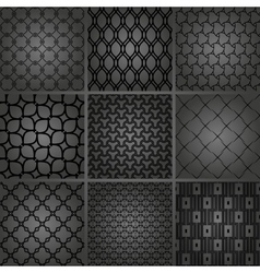 Set of Seamless Geometric Backgrounds vector image