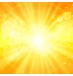 shiny sun sunbeams sunrays vector image