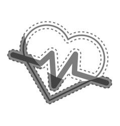 Silhouette heartbeat cardio vital sign vector
