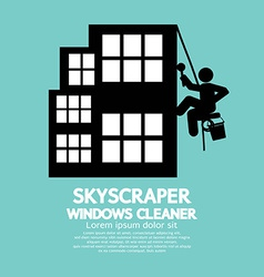 Skyscraper Windows Cleaner vector image