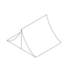 Tent icon in isometric 3d style vector image
