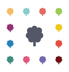 tree flat icons set vector image