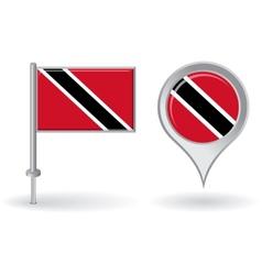 Trinidad and Tobago pin icon map pointer flag vector