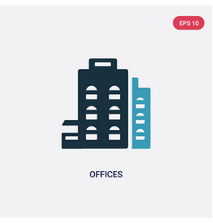 Two color offices icon from user interface vector