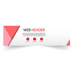 web header abstract red pink white background vect vector image