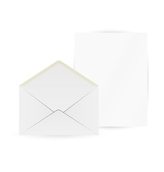 white envelope and paper vector image
