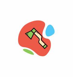 woodcutter axe icon vector image