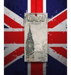 Big Ben Tower London Landmark Hand-drawn Sketch vector image vector image