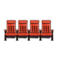 Cinema chairs isolated vector