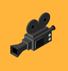 cinema video camera isometric view vector image vector image