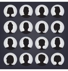 Icons set of people stylish avatars for profile vector image
