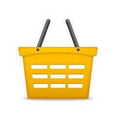 Orange Shopping Basket vector image vector image