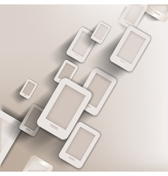 paper background with phone web iconflat design vector image