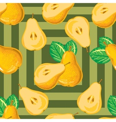 seamless pattern of yellow pear vector image vector image
