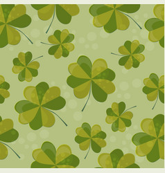 seamless pattern with clover with vector image vector image