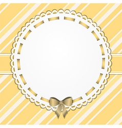 Vintage yellow border and background vector image vector image