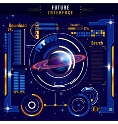 Abstract Future Interface Composition vector image