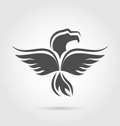 Eagle symbol isolated on white background vector image