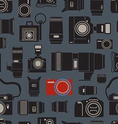Modern and retro photo technics seamless vector image