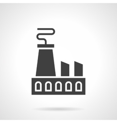 Nuclear power plant glyph style icon vector image vector image