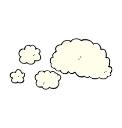Cloud of smoke comic cartoon element vector