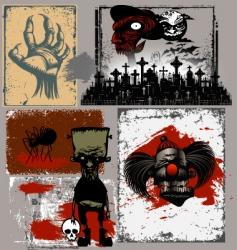 Halloween design objects vector image vector image