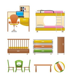 nursery and children furniture vector image vector image