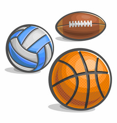 set of sport ball vector image vector image